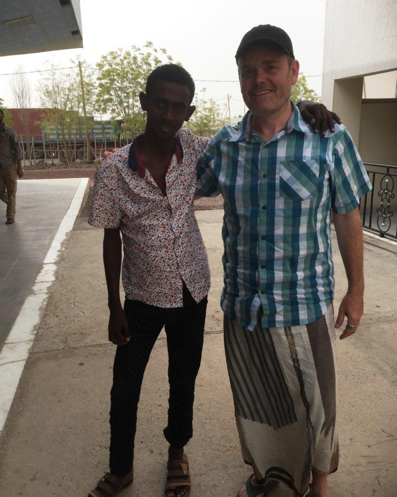 Yussuf and Can-Go Afar team member Brad Mackay in Samara