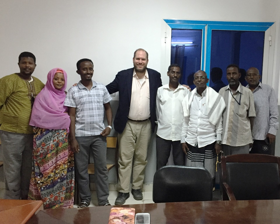 Can-Go Afar Vice-President Jason Kelley meets with UDC representatives in Djibouti city